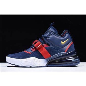 Nike Air Force 270 Dream Team Obsidian/Metallic Gold-Gym Red-White AH6772-400