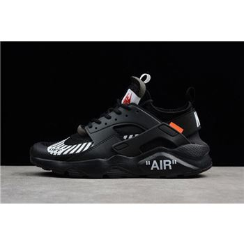Off-White x Nike Air Huarache Ultra Black Men's Running Shoes AA3841-001
