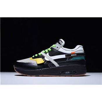 BespokeIND x Off-White x Nike Air Max 1 in Black Men's Size For Sale
