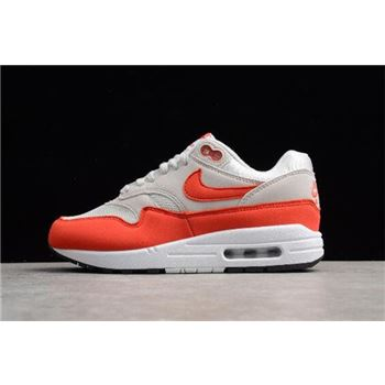 WMNS Nike Air Max 1 Habanero Red Vast Grey/Habanero Red 319986-035