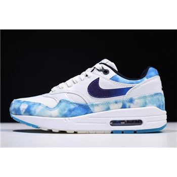 WMNS Nike Air Max 1 N7 White/Court Purple-Dark Obsidian AO2321-100