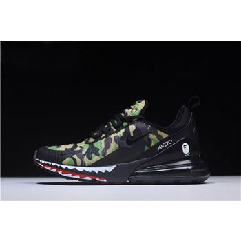 BAPE x Nike Air Max 270 Camo Mens Running Shoes AH6799-003