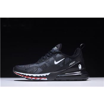 Men's A Bathing APE x Nike Air Max 270 Black Camo AH6799-012
