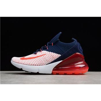 New Nike WMNS Air Max 270 Flyknit Dark Blue/Red-White A01023-106