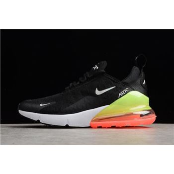 Nike Air Max 270 SE Black White Green Running Shoes AQ9164-003