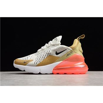 Nike WMNS Air Max 270 Flight Gold/Black-Light Bone-White-Hot Punch AH6789-700