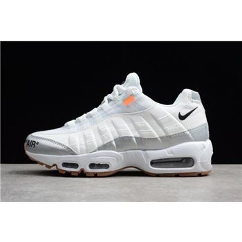 Off-White x Nike Air Max 95 White Silver Men's Size 609048-159