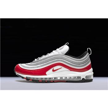 Nike Air Max 97 Pure Platinum/University Red-White Men's and Women's Size 921826-009