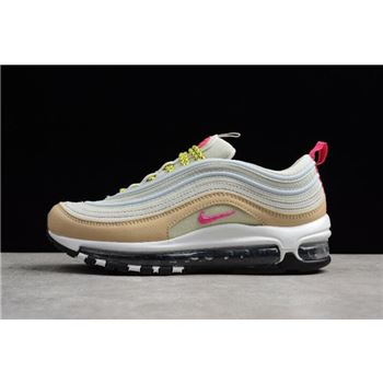 Women's Nike Air Max 97 OG White Tan Light Bone/Deadly Pink-Mushroom 921733-004