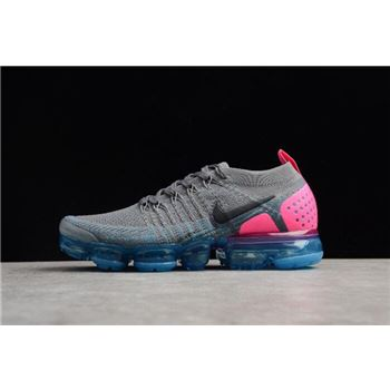 2018 Nike Air VaporMax Flyknit 2.0 Gunsmoke Women's Running Shoes 942843-004