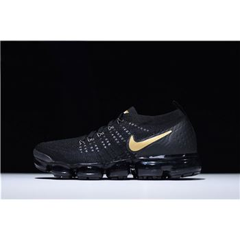 Nike Air VaporMax 2.0 Flyknit Black Gold Men's Running Shoes