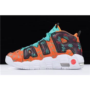 Nike Air More Uptempo What The 90s Total Orange/Black-Hyper Jade-Bordeaux AT3408-800