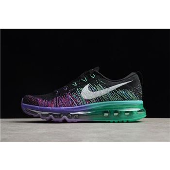 WMNS Nike Air Max Flyknit Black/White-Purple Venom-Tribe Green 620659-001