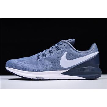 Nike Air Zoom Structure 22 Navy Blue/White AA1636-401 Free Shipping