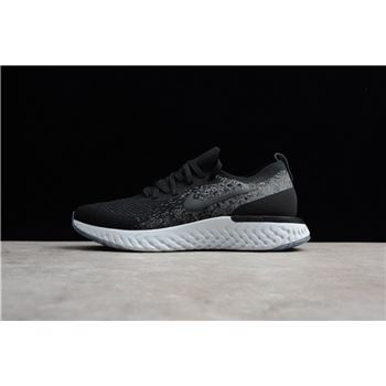 1ab336b014b2a Buy Nike Epic React Flyknit Black Dark Grey-Pure Platinum AQ0067-001 Men s