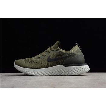 Men's and Women's Nike Epic React Flyknit Olive AQ0067-300