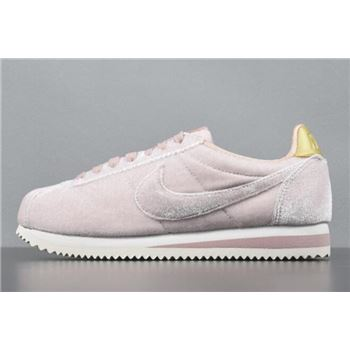 Nike Classic Cortez Velvet Pink/Metallic Gold Women's Shoes AJ8646-600