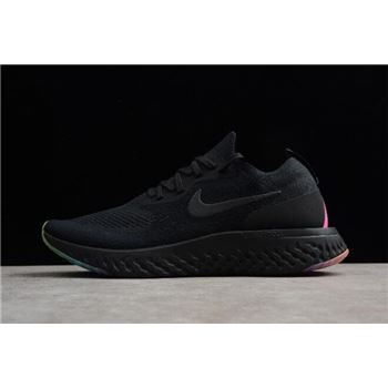 Men's and Women's Nike Epic React Flyknit Be True Black/Multi-Color AR3772-001