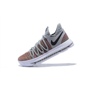 Men's Nike KD 10 Multi-Color/Black-Cool Grey-White 897815-900
