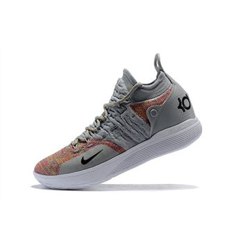 New Nike KD 11 Cool Grey/Multi-Color Men's Basketball Shoes