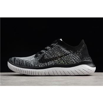 Nike Free Run Flyknit 2018 White/Black Men's Running Shoes 942838-101