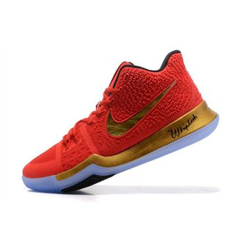 Kyrie Irving Nike Kyrie 3 Red/Metallic Gold-Black Basketball Shoes Hot Sale