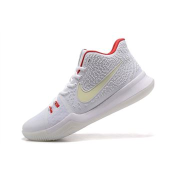 Nike Kyrie 3 White Red Glow in the Dark Men's Basketball Shoes