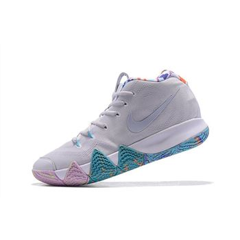 Nike Kyrie 4 Easter White/Multicolor For Sale