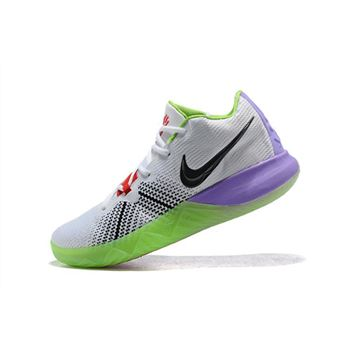 Men's Nike Kyrie Flytrap White/Black/Red/Purple/Green Shoes Free Shipping