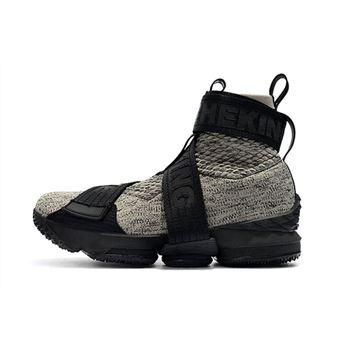 174a7a16dd1a KITH x Nike LeBron 15 Lifestyle Concrete Black Grey Men s Basketball Shoes