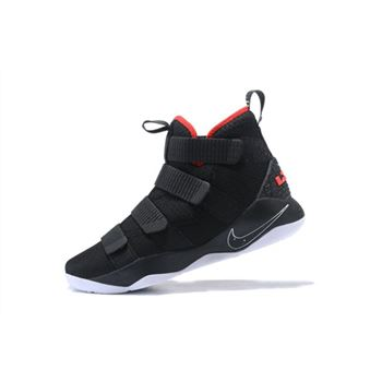 Nike LeBron Soldier 11 Bred Black/White-University Red 897644-002