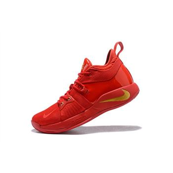 Nike PG 2 Gold Medal Fire Red/Gold Men's Basketball Shoes