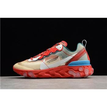 Undercover x Nike React Element 87 Red/Light Green/Sail Men's Size For Sale