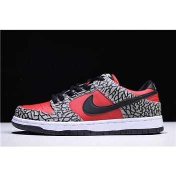 Supreme x Nike Dunk Low Premium SB Fire Red/Cement Grey-Black 313170-600