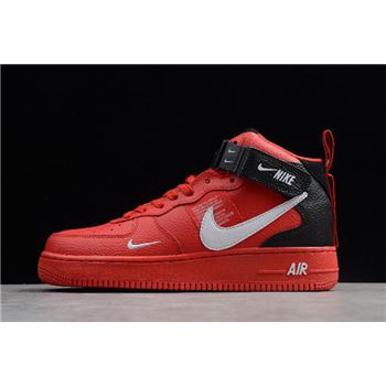 Nike Air Force 1 Mid '07 LV8 University Red/White-Black-Tour Yellow 804609-605