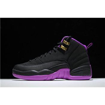 Air Jordan 12 GS Hyper Violet Black/Metallic Gold Star-Hyper Violet 510815-018