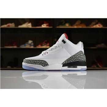 Air Jordan 3 NRG Free Throw Line White/Black-Fire Red-Cement Grey 923096-101