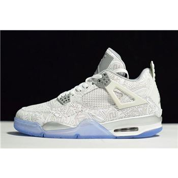 New Air Jordan 4 Retro 30th Anniversary Laser White/Chrome-Metallic Silver 705333-105