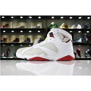 Air Jordan 7 Retro Hare White/Light Silver/Tourmaline/True Red Men's and Women's Size
