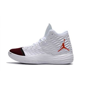 Jordan Melo M13 White/Red-Black Shoes Free Shipping