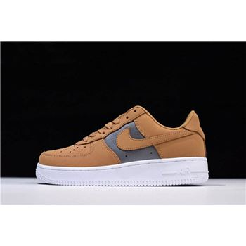 Mens and WMNS Nike Air Force 1 Low Bio Beige/Metallic Silver AH6827-200