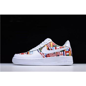 Nike Air Force 1 Low International Flags White/Multi-Color Men's and Women's Size