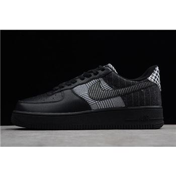 Nike Air Force 1 Low Patchwork Black/Black-White AT0062-001