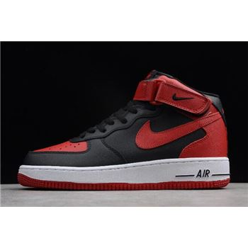 Nike Air Force 1 Mid Bred Black/Gym Red-White 315123-029