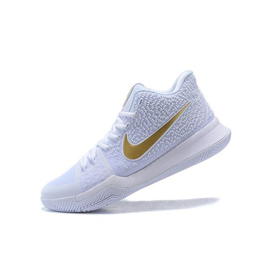 Men's Nike Kyrie 3 Christmas PE WhiteMetallic Gold 852396